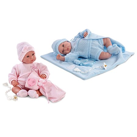 Кукла Llorens 36 см с одеялом со звуком в ассортименте