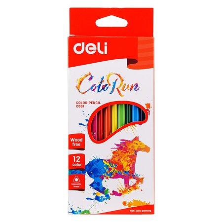 Карандаши цветные Deli ColoRun EC00100 12цв.