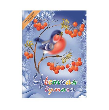 Цветная бумага Академия Холдинг 8 цв 8 листов
