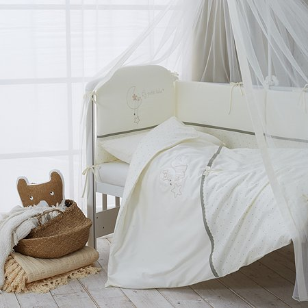 Комплект постельного белья Perina LE PETIT BEBE для детей 3 предмета оливковый