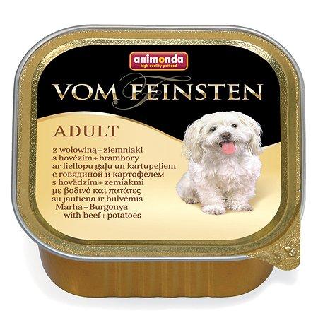 Корм для собак ANIMONDA Vom Feinsten Menue с говядиной и картошкой консервированный 150г