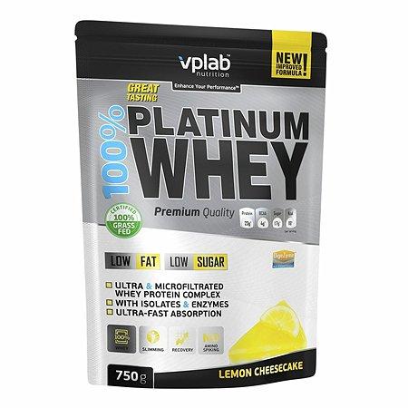 Протеин VPLAB Platinum Whey 100% лимонный чизкейк 750г