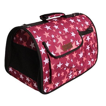 Сумка-переноска для животных LIONMANUFACTORY с карманами Розовый LM6412-4