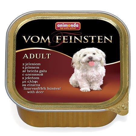 Корм для собак ANIMONDA Vom Feinsten Forest с олениной консервированный 150г