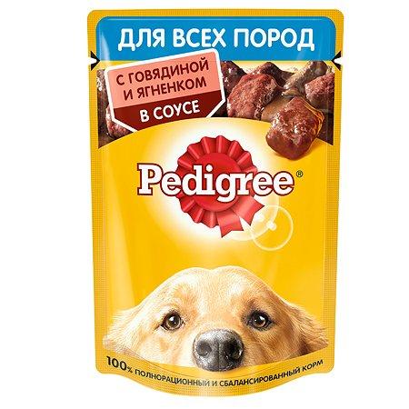 Корм для собак Pedigree говядина и ягненок в соусе консервированный 85г