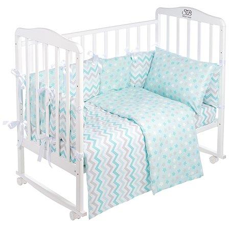 Комплект в кроватку Sweet Baby Colori 4предмета Blue Голубой