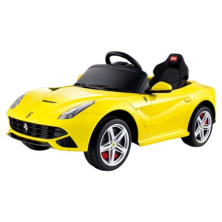 Электромобиль Rastar Ferrari F12 Желтый