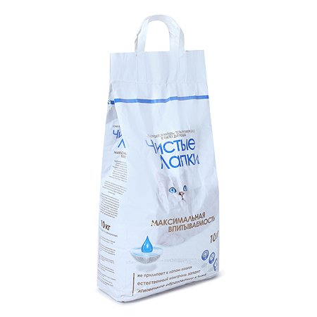 Наполнитель для кошек Чистые лапки комкующийся 10 кг