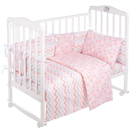 Комплект в кроватку Sweet Baby Colori 4предмета Rosa Розовый