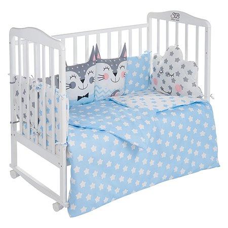 Комплект в кроватку Sweet Baby Gioia 4предмета Blue Голубой
