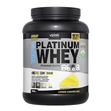 Протеин VPLAB Platinum Whey 100% лимонный чизкейк 908г