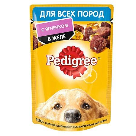 Корм для собак Pedigree ягненок в желе консервированный 85г