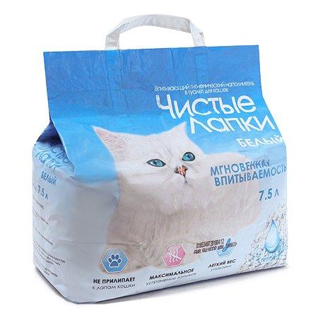 Наполнитель для кошек Чистые лапки впитывающий 7.5 л