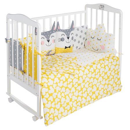 Комплект в кроватку Sweet Baby Gioia 4предмета Giallo Желтый