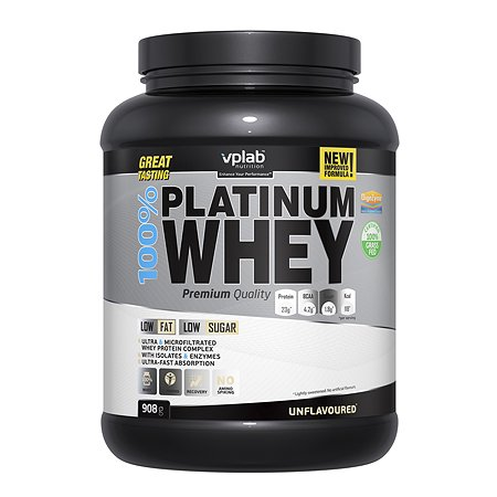Протеин VPLAB Platinum Whey 100% натуральный 908г