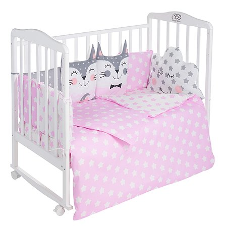 Комплект в кроватку Sweet Baby Gioia 4предмета Rosa Розовый