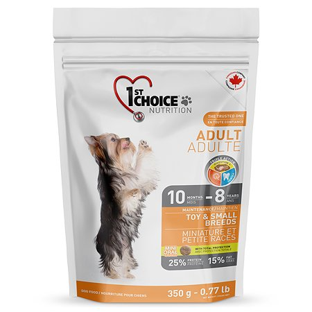 Корм для собак 1st Choice миниатюрных и мелких пород курица 350г