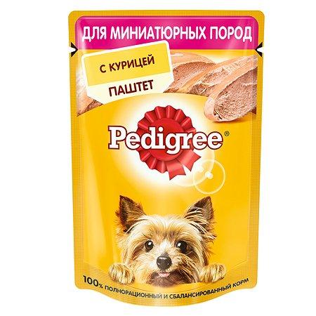 Корм для собак Pedigree миниатюрных пород паштет курица консервированный 80г