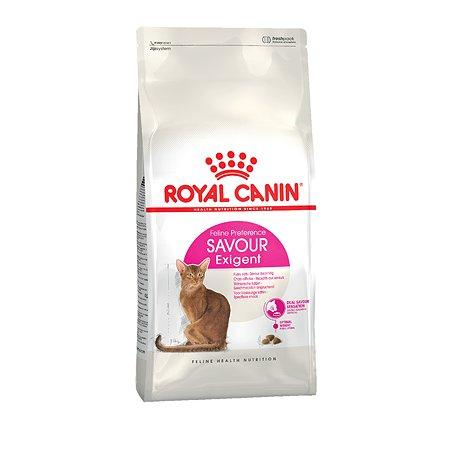 Корм сухой для кошек ROYAL CANIN Exigent Savour 4кг ривередливых к вкусу продукта