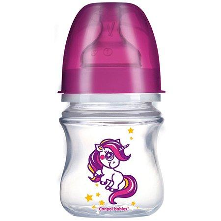 Бутылочка Canpol Babies с широким горлышком 120 мл EasyStart в ассортименте