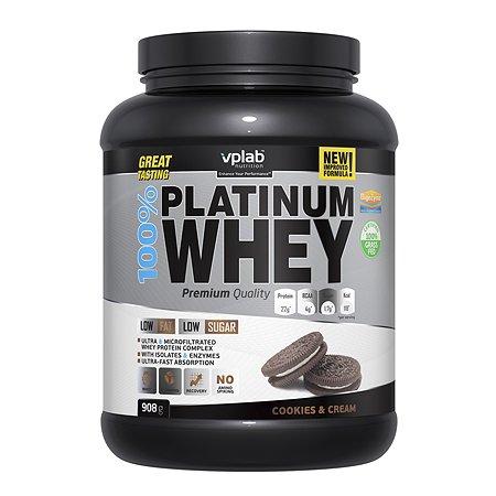 Протеин VPLAB Platinum Whey 100% печенье-крем 908г