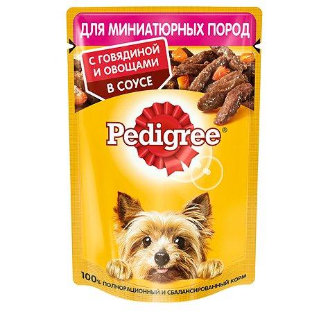 Корм для собак Pedigree миниатюрных пород говядина и овощи в соусе консервированный 85г