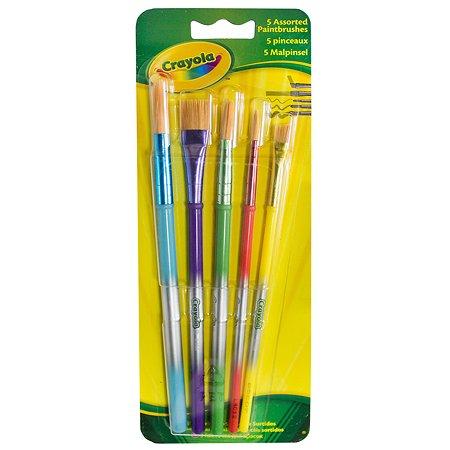 Кисточки для красок Crayola 5 шт