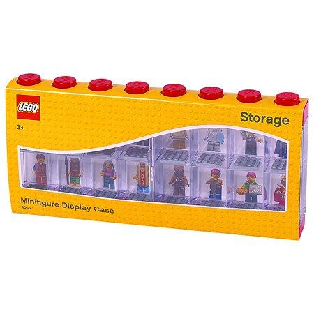 Дисплей для минифигур LEGO 16 шт красный