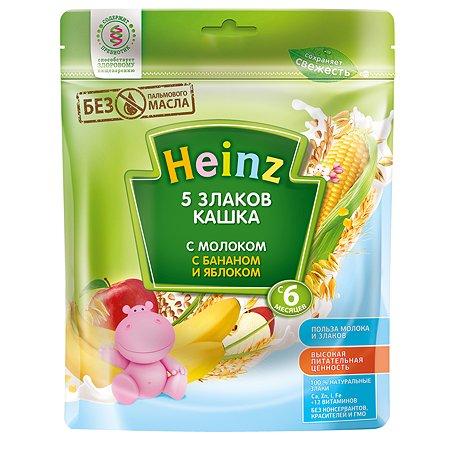 Каша Heinz молочная 5 злаков с бананом и яблоком 250г с 5месяцев