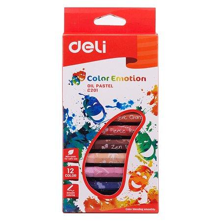 Масляная пастель Deli EC20100 Color Emotion 12 цв.