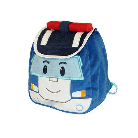 Плюшевый рюкзак Gulliver Поли Робокар (голубой)