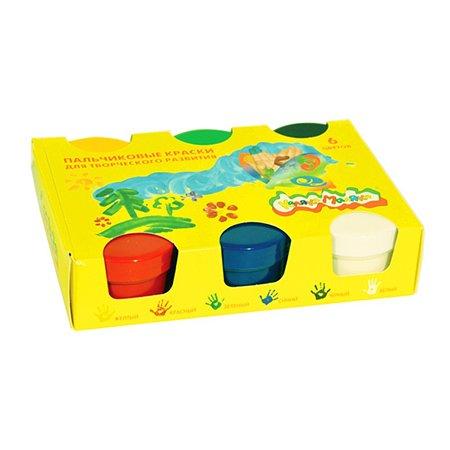 Краски пальчиковые КАЛЯКА МАЛЯКА 60 миллилитров 6 цветов  3+