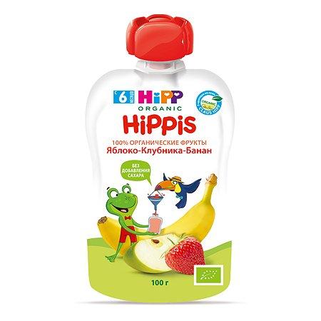 Пюре Hipp яблоко-клубника-банан 100 г с 6 месяцев