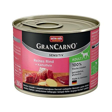 Корм для собак ANIMONDA GranCarno Sensitiv с говядиной и картофелем консервированный 200г