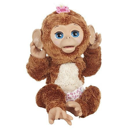 Игрушка мягкая FurReal Friends Смешливая обезьянка интерактивная A1650E24