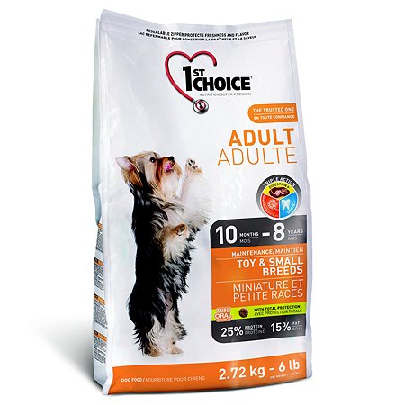 Корм для собак 1st Choice миниатюрных и мелких пород курица 2.72кг