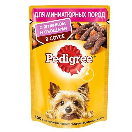 Корм для собак Pedigree миниатюрных пород ягненок и овощи в соусе консервированный 85г