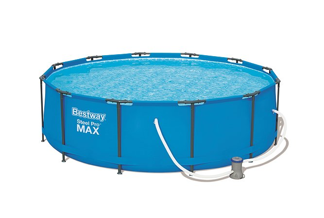 Бассейн каркасный Bestway Steel Pro Max с фильтрующим насосом 56260