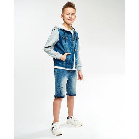 Джинсовая куртка Futurino Fashion голубая