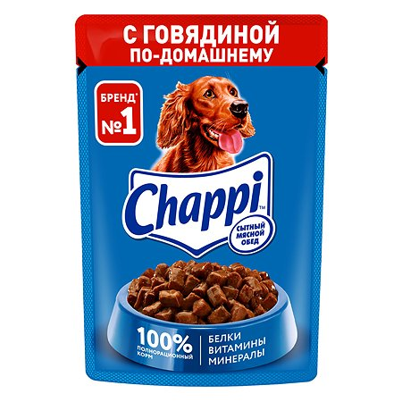 Корм для собак Chappi говядина по-домашнему консервированный 85г