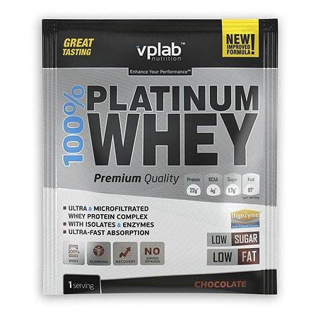 Протеин VPLAB Platinum Whey 100% шоколад 30г