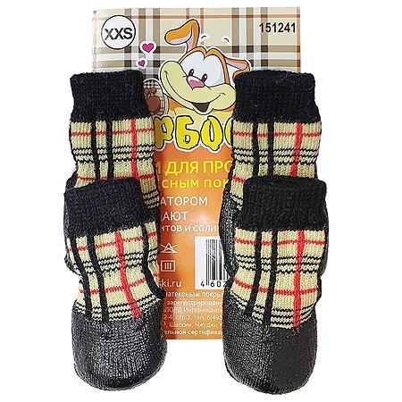 Носки для собак Барбоски XXS Клетка 52750