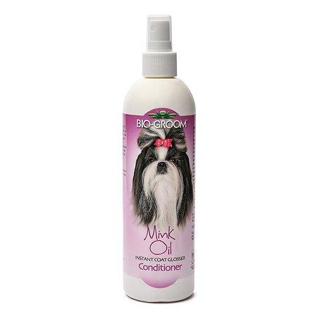 Спрей для кошек и собак BIO-GROOM Mink Oil с норковым маслом для блеска и роста шерсти 355мл