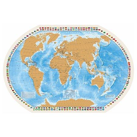 Карта ДИ ЭМ БИ МАРКЕТ Мир моих путешествий 1:40млн со стирающимся слоем ОСН1234549