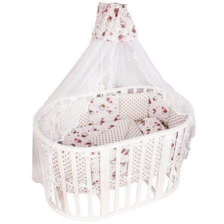 Комплект постельного белья AMARO BABY Маффин 8предметов Розовый
