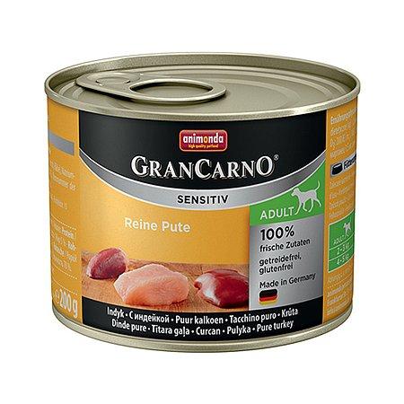 Корм для собак ANIMONDA GranCarno Sensitiv с индейкой консервированный 200г