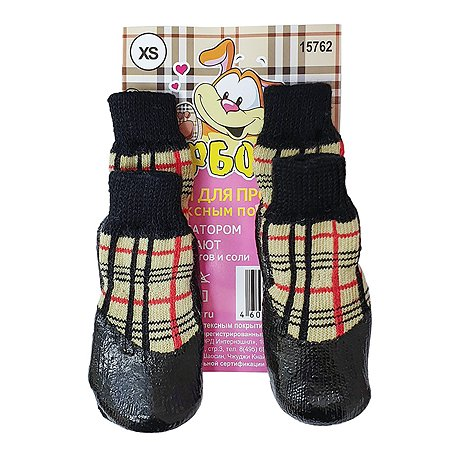 Носки для собак Барбоски XS Клетка 52751