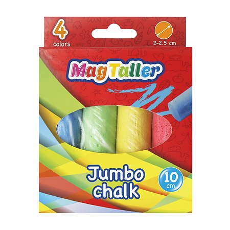 Мел цветной Magtaller Jumbo 4цвета 603570