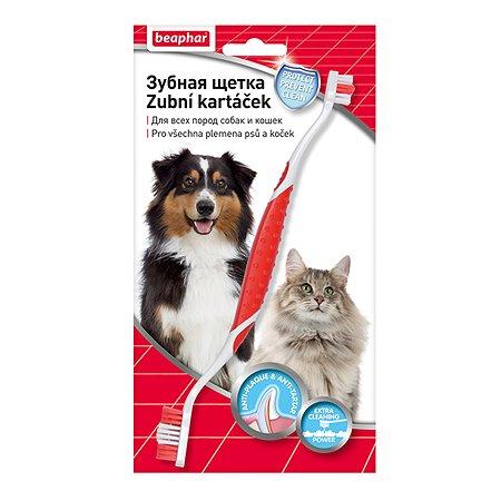 Зубная щетка для собак и кошек Beaphar двойная 36731