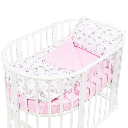 Комплект постельного белья Sweet Baby Gelato 4предмета Rosa Розовый